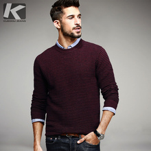 New Fashion Autumn Mens O-neck Sweaters Male Winter Pullovers Man's Stripe Knitwear Slim Fit Brand Clothes Clothing