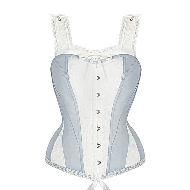 b2249d8fd49 Lace Embroidery Straps 14 Steel Boned Corset Tops Sexy Plus Size Women  Bridal Corset Bow Details Trainer Overbust Corset 6XL