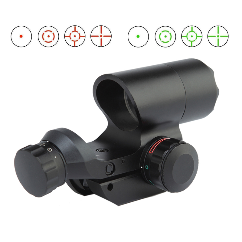 ar 15 accessories tactical airsoft 1x22 red dot scope green reflex sight fits 20mm picatinny rail for rifle scope for hunting image