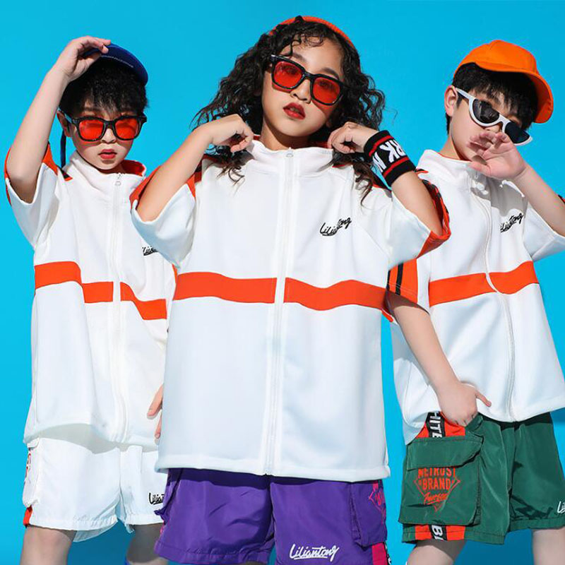 Children Concert Hip Hop Clothing Loose Tshirt Pants Top Crop Boys Girls Jazz Dance Wear Costumes Wear Ballroom Dancing Clothes
