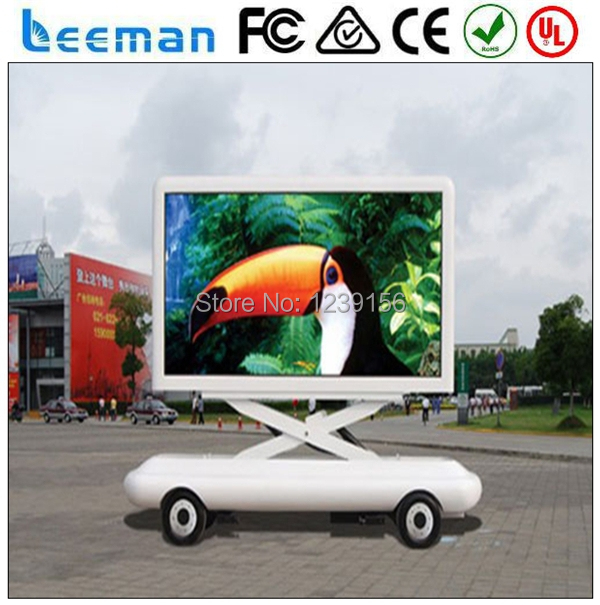 Leeman P LED Mobile Sign Screen Trailer For Outdoor Advertising - Car sign with namesonline get cheap d led sign aliexpresscom alibaba group