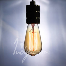 Judy Lighting – Classic Vintage Edison Filament Bulb Dimmable Edison Amber Glass Bulb E27 40W  For Pendant Lamps