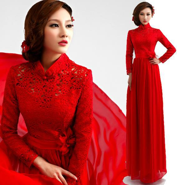 Fashionable Winter Dress Long Sleeve Lace Long Evening Dress 2014