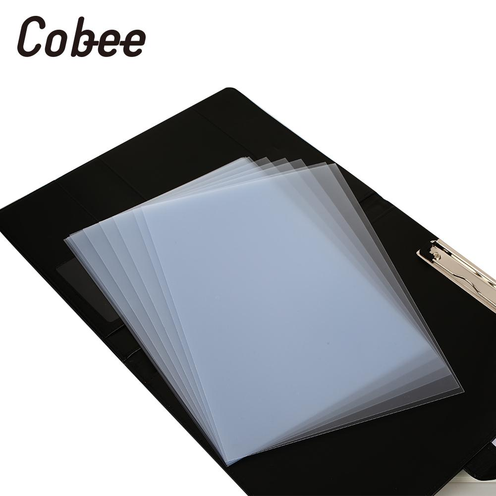 10pcs/Bag Book Binding Cover A4 Frosted Notebook Binding Cover File Book Binding Case Plastic contrast binding tee