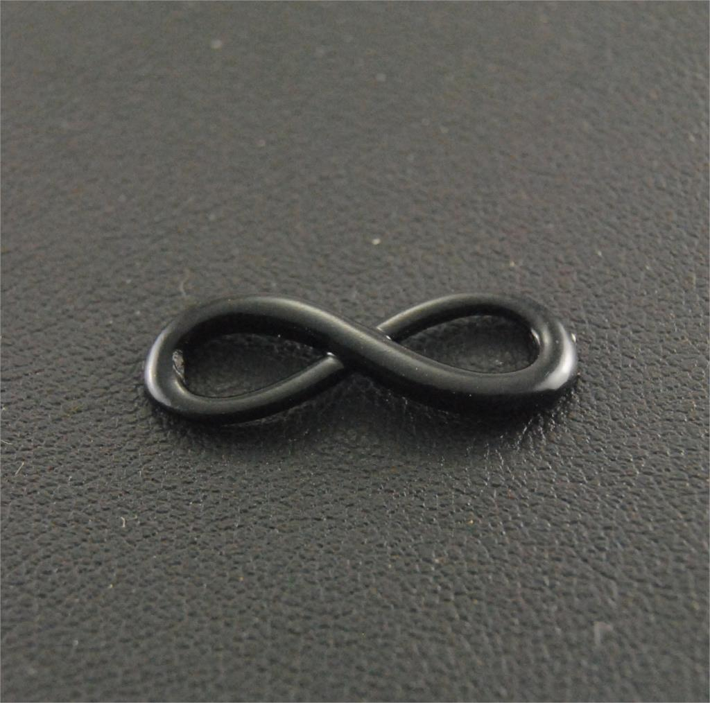 "10pcs Alloy Black Infinity Charms Connector ""8"" Charm"