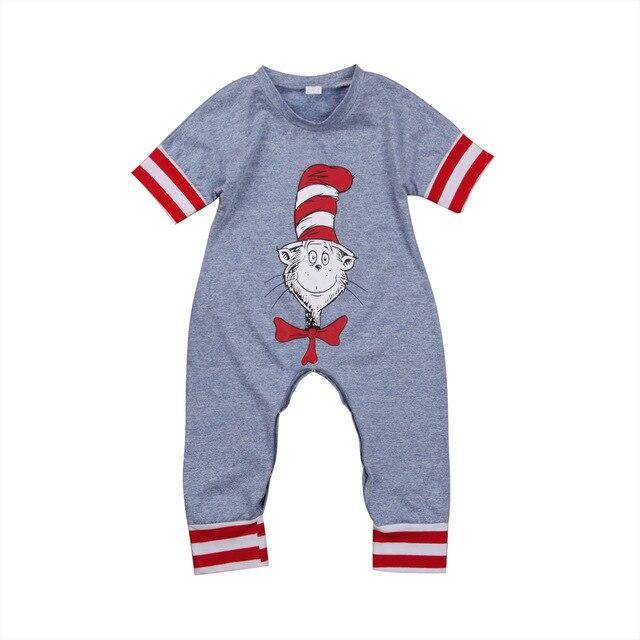 Odzież dziecięca dla niemowląt Szary pasek w paski Komiksowy - Odzież dla niemowląt - Zdjęcie 2