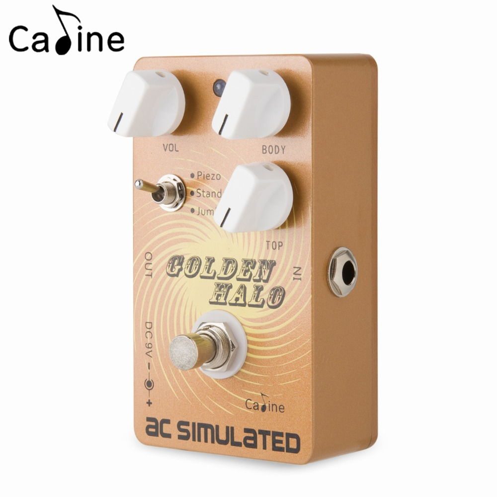 Caline PEDAL CP-35 AC SIMULATED Guitar Effect Pedal with True Bypass Piezo Standard and Jumbo Modes mooer ensemble queen bass chorus effect pedal mini guitar effects true bypass with free connector and footswitch topper
