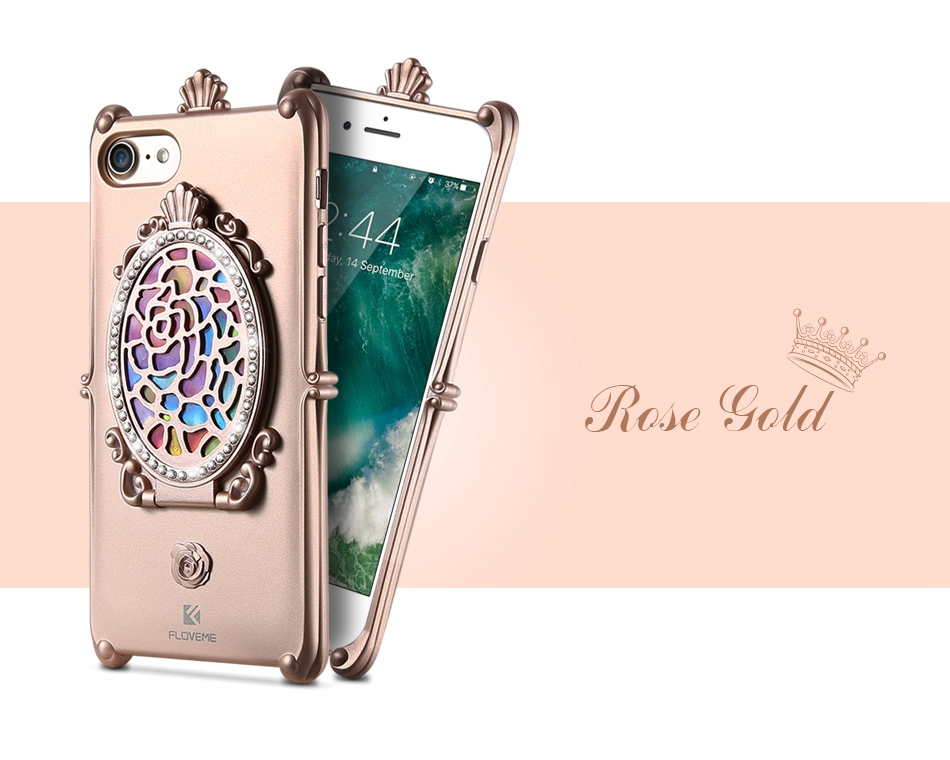 Makeup Mirror Case For iPhone 7 6 6S Plus Cases Glitter Rhinestone Kickstand Cover  (11)