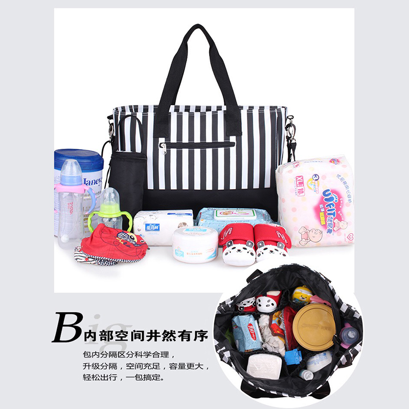 2019 Fashion Multi function Mommy Bags Mummy Nappy Bags Commuter Bags Large Capacity Oxford Waterproof Cloth Strong and Durable in Diaper Bags from Mother Kids