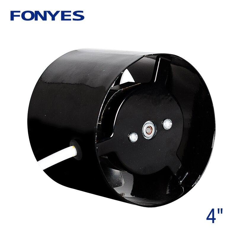 """4 """"inline condotto della ventola di scarico ventilatore ventilatore aria in metallo tubo di ventilazione bagno ventilatore a muro ventilatore mini estrattore 100 millimetri 220 V"""