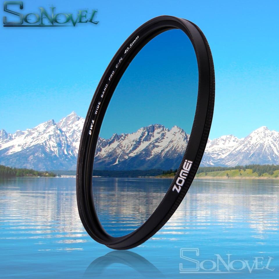 Zomei 49mm/52mm/55mm/58mm/62mm/67mm/72mm/77mm/82mm CPL Polarizzatore Circolare Filtro Polarizzatore per Canon Nikon Camera Lens di Sony