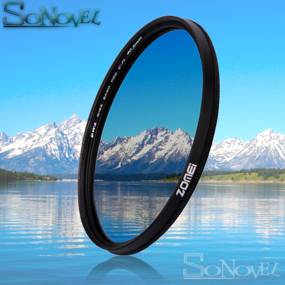 Zomei 49mm/52mm/55mm/58mm/62mm/67mm/72mm/77mm/82mm CPL Circular Polarizer Polarizing Filter for Canon Nikon Sony Camera Lens