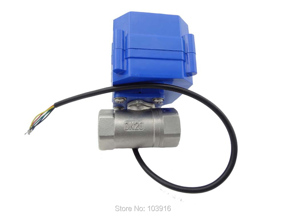 ФОТО 10 units 110V DN20 (NPT) (reduce port) motorized ball valve, stainless steel, 2 way, electrical valve