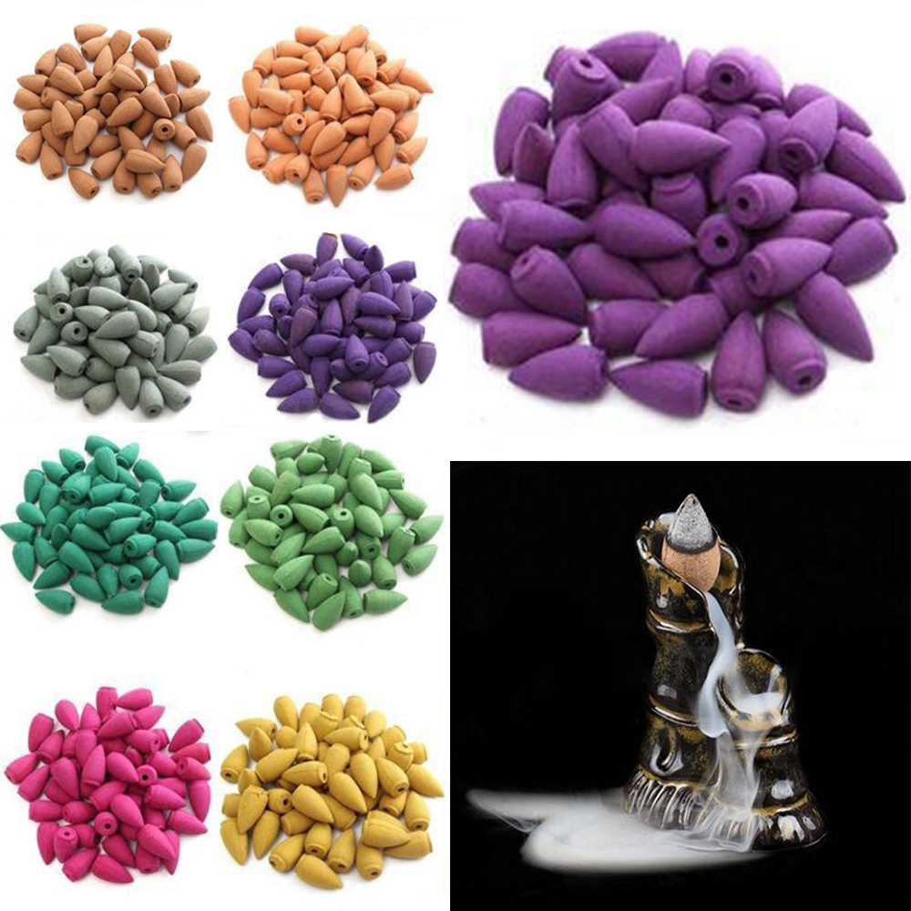 US $0.76 37% OFF|50pcs/bag Natural Tower Backflow Incense Cones Hollow  Buddhism Smoke Cones Lavender Jasmine Sandalwood Aromatherapy-in Incense &  ...