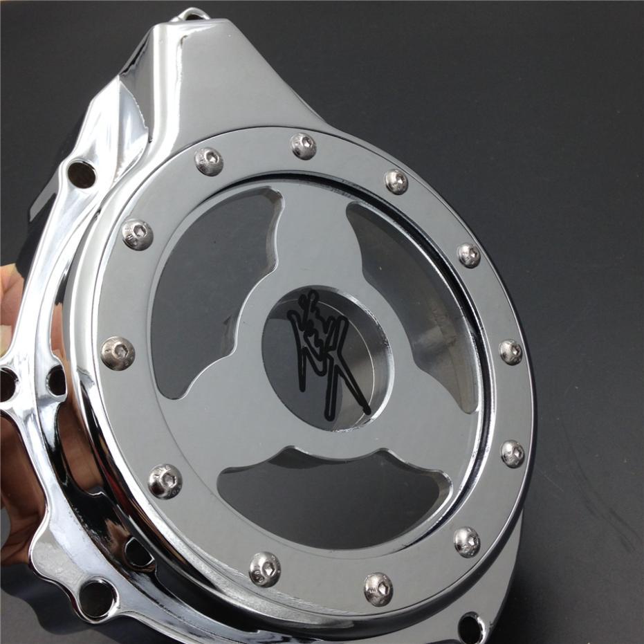 Для мотоцикла Suzuki GSX1300R hayabusa в 1999-2013 стекло видеть сквозь двигателя статора Крышка CHROMEME