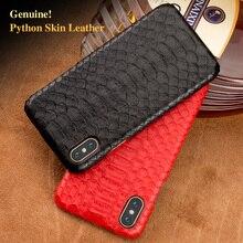 Wangcangli brand cell phone case natural python skin cover for iphone 6P 6SP all handmade custom