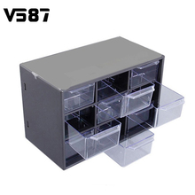 Plastic 9 Jewellery Storage Field Mini Particles Cupboards Lattice Transportable Amall Drawer Sorting Grid Desktop Workplace Provides