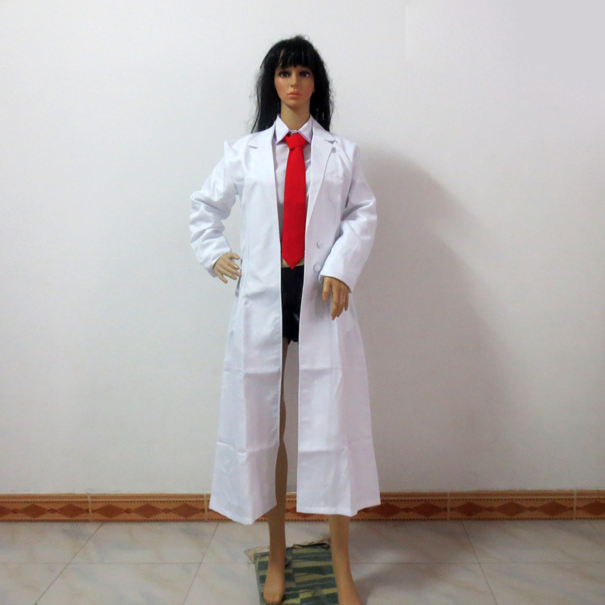 Anime Steins Gate Makise Kurisu Cosplay Costume Halloween Custom Made Any Size