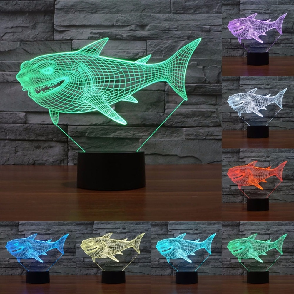 Lava lamp visualizer - Usb Powered 3d Led Lamp 7 Colors Amazing Optical Illusion Night Lights 3d Visualization For Home