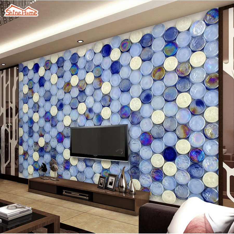 ShineHome Mosaic Brick Stone Non Woven Room Mural Rolls Background Wallpaper 3d for Livingroom Wall Paper 3 d Home Ceiling Deco shinehome abstract brick black white polygons background wallpapers rolls 3 d wallpaper for livingroom walls 3d room paper roll