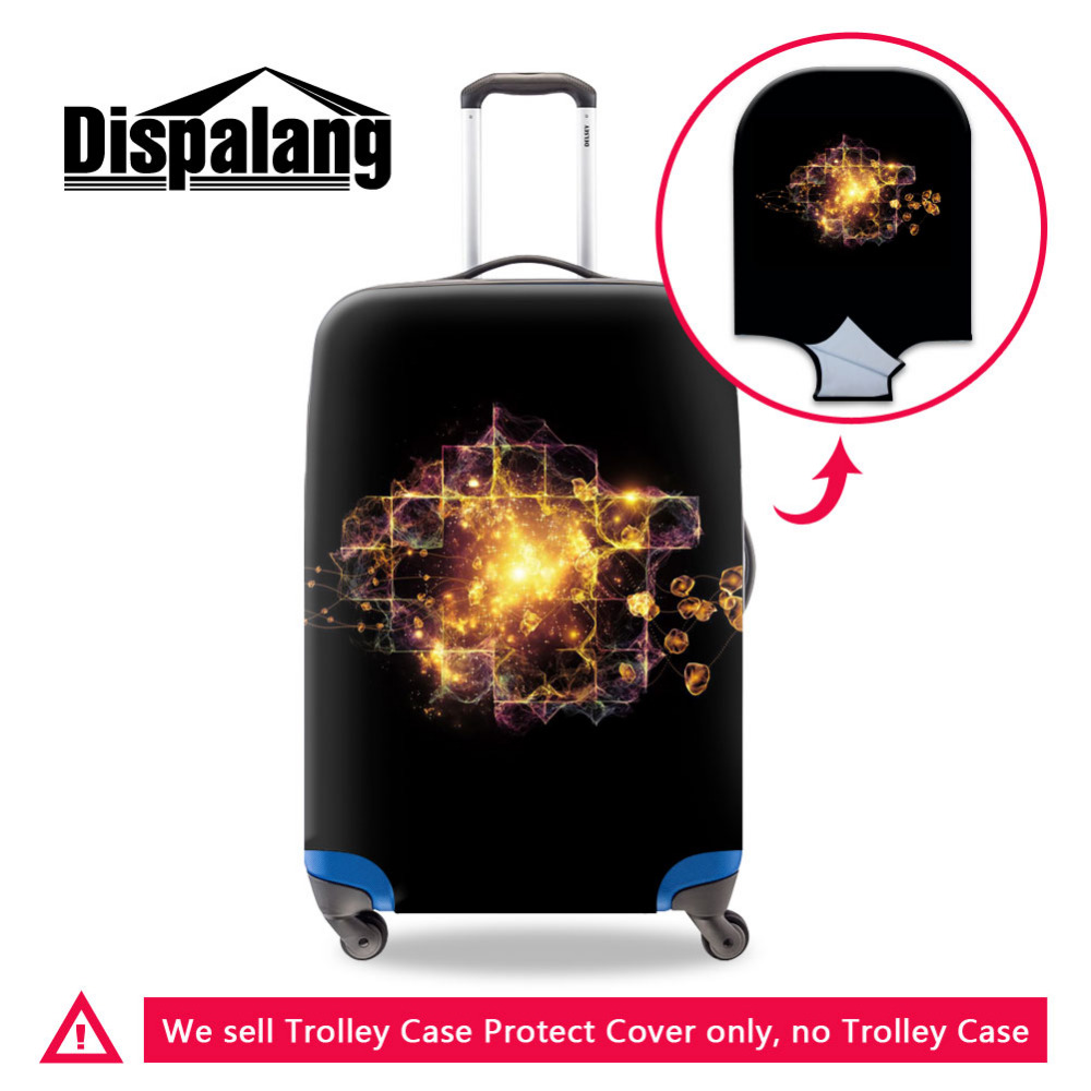 Dispalang Fashion Travel Luggage Protective Covers For 18-30 Inch Trolley Case Dream Balck Elastic Suitcase Cover With Zipper
