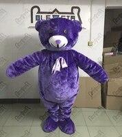 Экспорт высокого качества личности настраиваемые фиолетовый плюшевый мишка талисмана/взрослый размер Пушистый Плюшевый Костюм талисмана