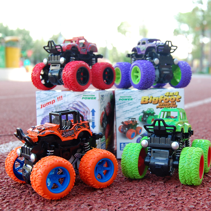 Hot Cool Children's Four-wheel Drive Inertial Off-road Vehicle Simulation Stunt Swing Car Toy