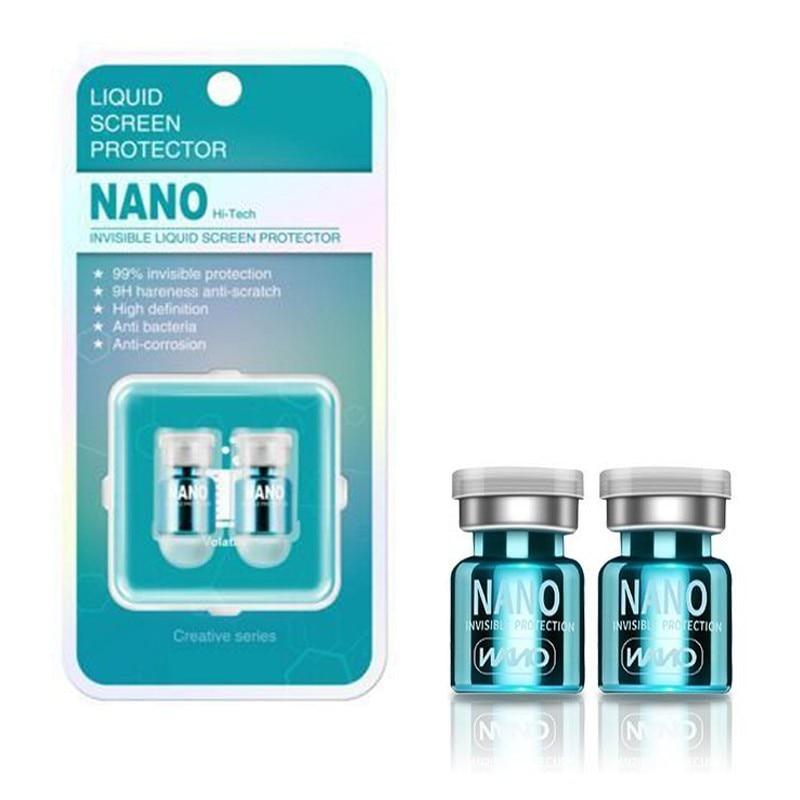 2 pièces Bouteille Nano Liquide Protecteur D'écran pour l'iphone XS MAX 7 8 plus Xiaomi 8 Universel anti-rayures Incurvé Film Protecteur En Verre