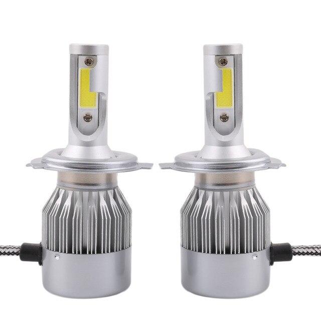 2 stks C8 H4 H/L Auto LED Koplamp Lamp Hoofd verlichting Vervangen ...