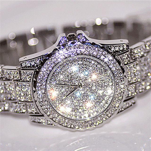 Diamond Silver Women Watches