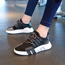 Women Casual Shoes Fashion 2019 Summer White Air Mesh Breathable Plus Size 43 EVA Support Equipment Sole Trainer Sneakers