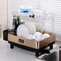 Limited Prateleira Нержавеющаясталь Кухня стеллаж посуды блюдо посуда сушки посуды для хранения складной посуда