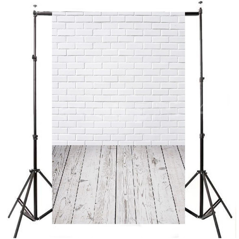 3x5FT Brick Wall Floor Photography Backdrop Photo Background Studio Props New High Quality Best Price mehofoto christmas tree backdrop fireplace photo background white brick wall photography backdrops for wood floor props 914