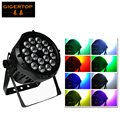 TIPTOP IP65 Waterproof 18 x 10W RGBW Led Par Light Party Disco Stage Smooth Wall Washer Toughened Glass Cover Live DJ Disco Show