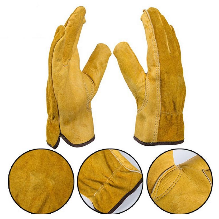 Jianbo deri iş sürücü eldiven mekanik koruma çalışma - Güvenlik ve Koruma - Fotoğraf 3