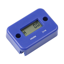 Sikeo Inductive Digital Hour Meter Waterproof Engine Gauge Hour Meter LCD Display for Bike Motorcycle ATV Boat(China)