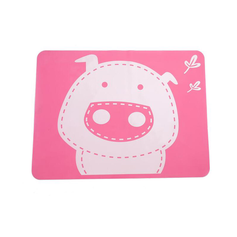 Silicone Pad Children Dinning Placemats For Table Baby Cartoon Pig Non Slip Kitchen Table Mat Table Decor Accessories 40 30cm