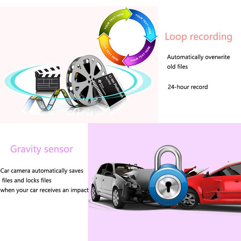 Image 5 - 4.3 Inch Car Dvr Mirror 1080P Dual Lens Dash Camera Auto Driving Video Recorder with Rear View Camera Vehicle Dash Cam-in DVR/Dash Camera from Automobiles & Motorcycles