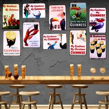 My Goodness Guinness Metal Painting Retro Tin Sign Wall Bar Home Craft Art Decor Cuadros  30X20CM DU-1001
