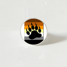 Bear Pride Ying Yang with Paw Gay Photo Charm rings Handmade Glass Dome Rings