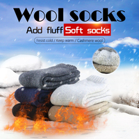 Keep Warm Down Thickening Color Wool Winter Increase Thick And Solid Man Flip Flop Socks For