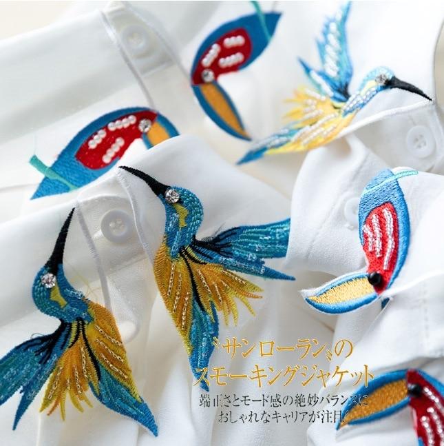 Fesyen Reka Bentuk Baru Burung sulaman bordir kalung rompi baju Tali - Pakaian wanita - Foto 2