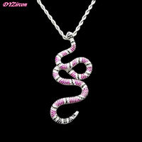 DYP006 2018 New Hiphop Jewelry Gold&Silver Plated Cubic Zirconia For Men Luxury Party Gifts Multicolor Snake Necklaces Pendants