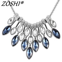 ZOSHI Statement Necklaces & Pendants Crystal Maxi Necklace for Women Female Chain Collar Collier Femme 2018 Fashion Jewelry