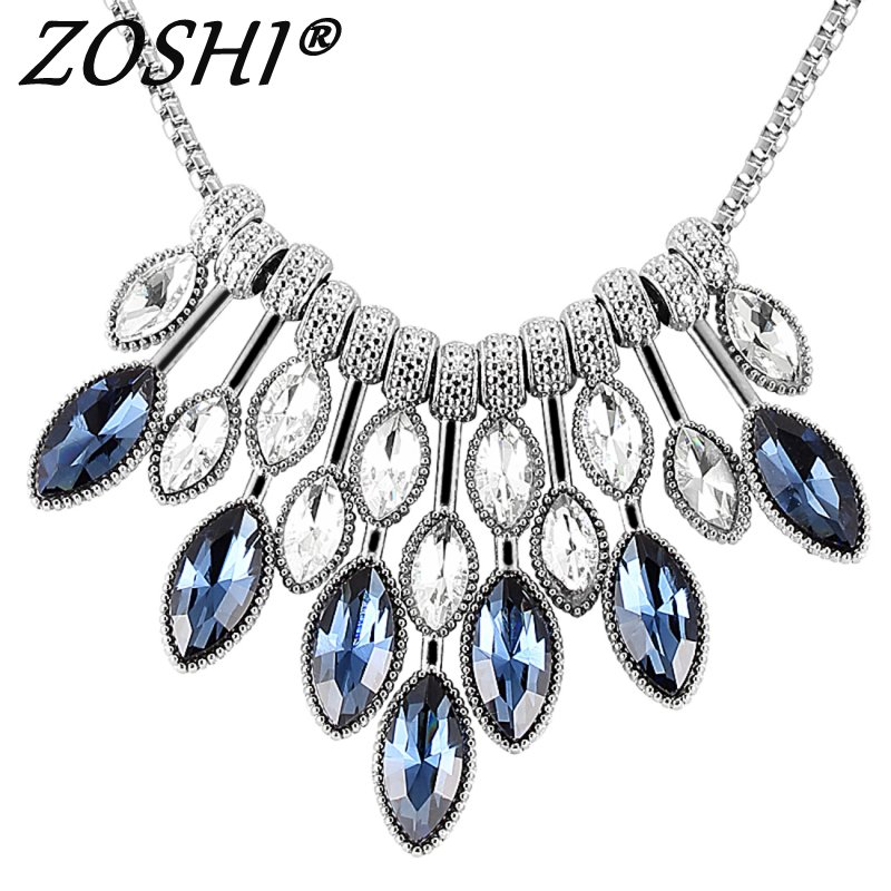 LUXE cristal strass Tour de cou colliers Statement Necklace women Jewelry US