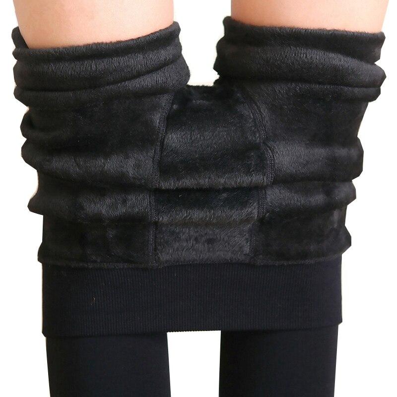 2017 NEW Plus Cashmere Casual Leggings For Women Girl Warm Winter Bright Velvet Knitted Thick Slim Legging Super Elastic trouser