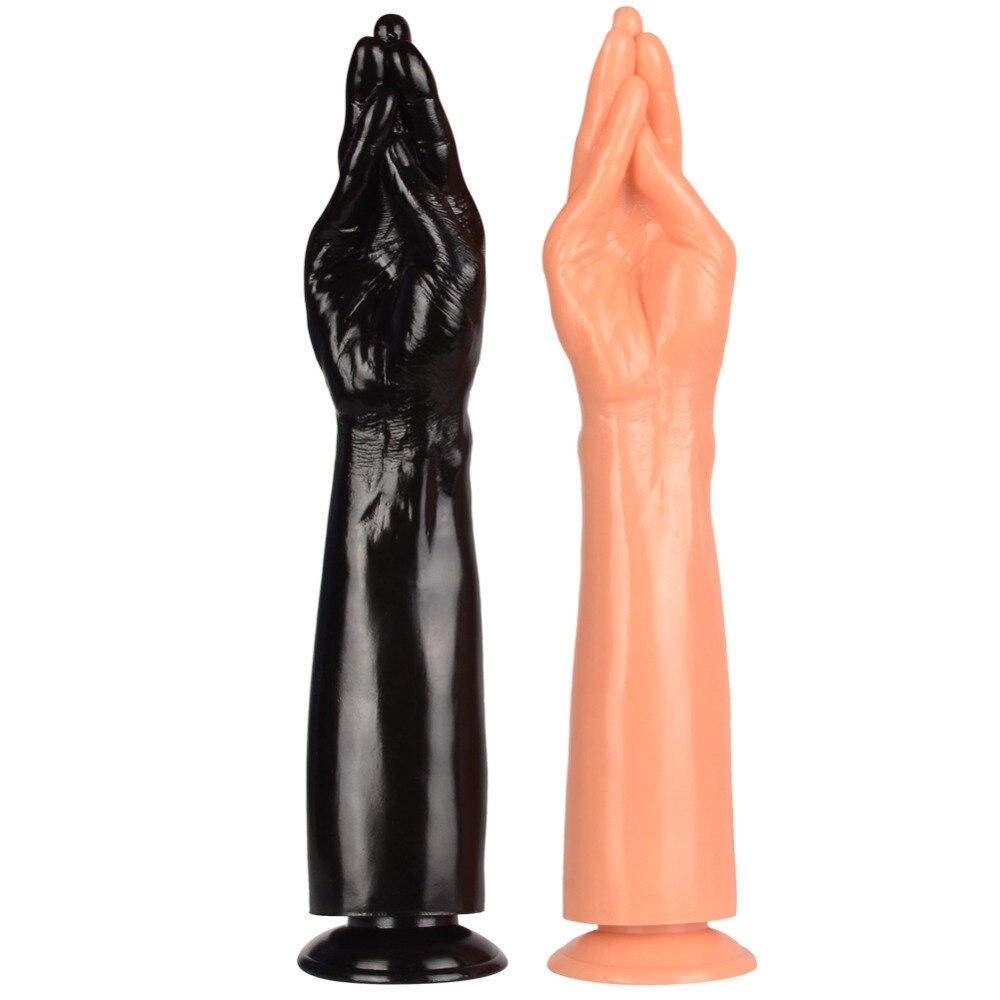 38 7 5cm hot soft dildo big huge hand large dildos Point G Female masturbationlong dildo