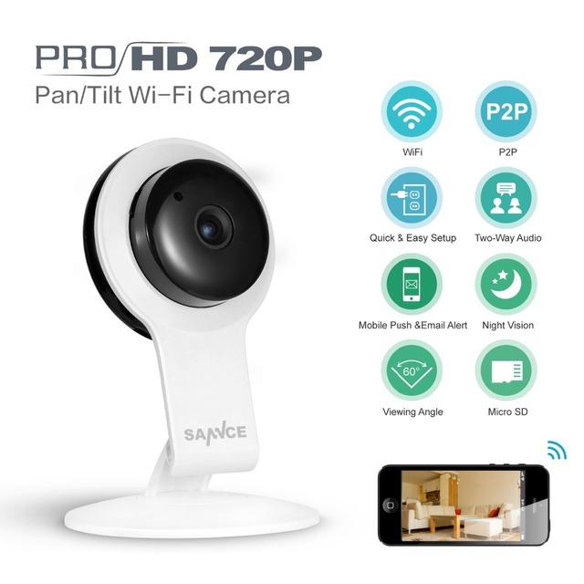 Sannce 720 p wifi 1.0mp câmera ip de segurança sem fio em casa inteligente CCTV Câmera de Rede P2P Baby Monitor Remoto Móvel IR Night visão