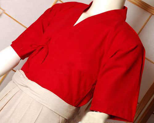 日本剣道赤リネン剣道コート剣道スーツジャケットカンフー武道合気道制服