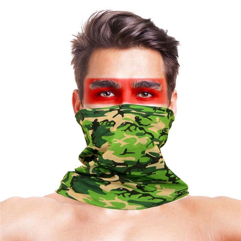 Камуфляжный шарф с высоким прыжком, бандана для мужчин и женщин, маска для лица, тактическая, для улицы, волшебный головной убор, для кемпинга, пешего туризма, шейный шарф - Цвет: 010